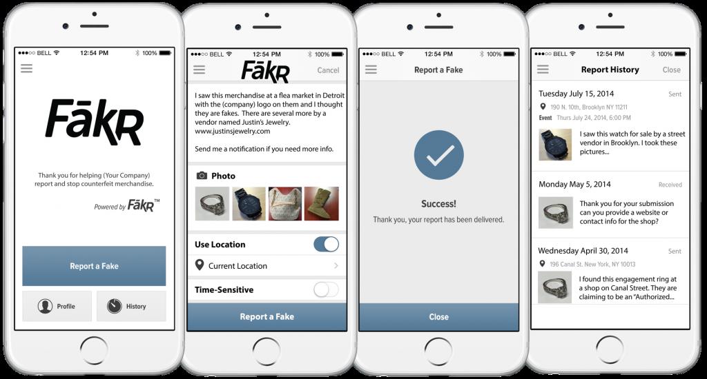 FākR Counterfeit Goods Mobile