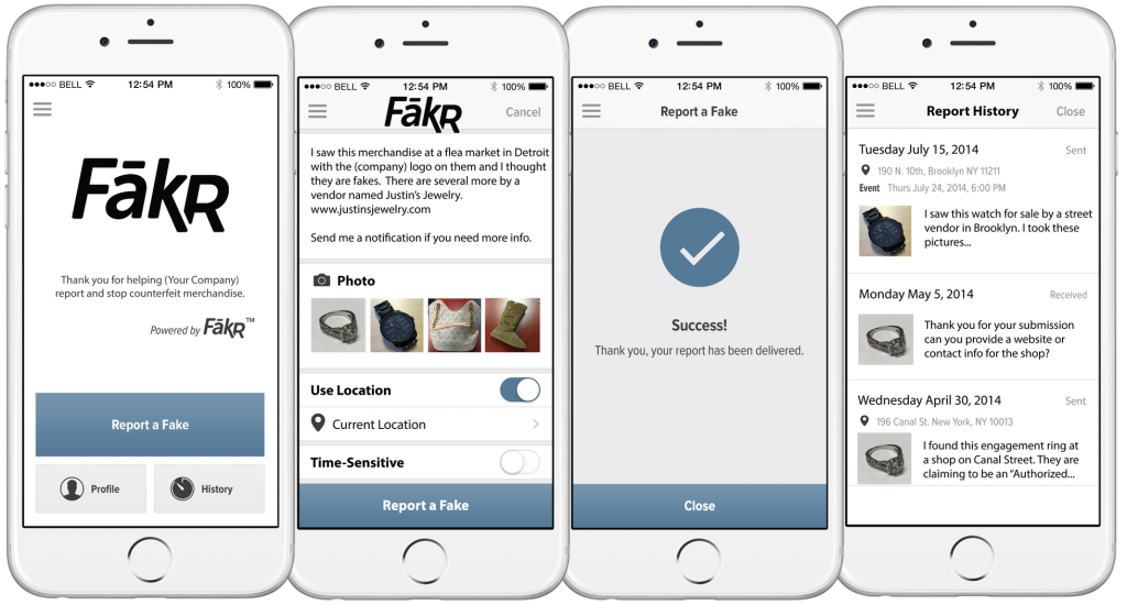 FākR Counterfeit Goods Mobile