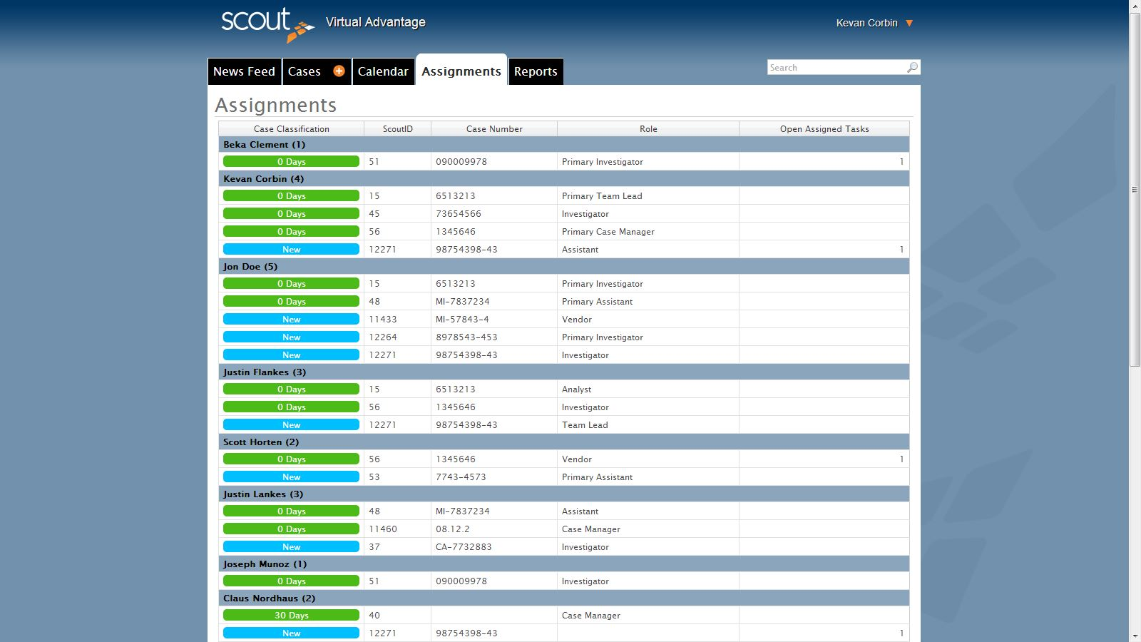 Assignments Case Management Software