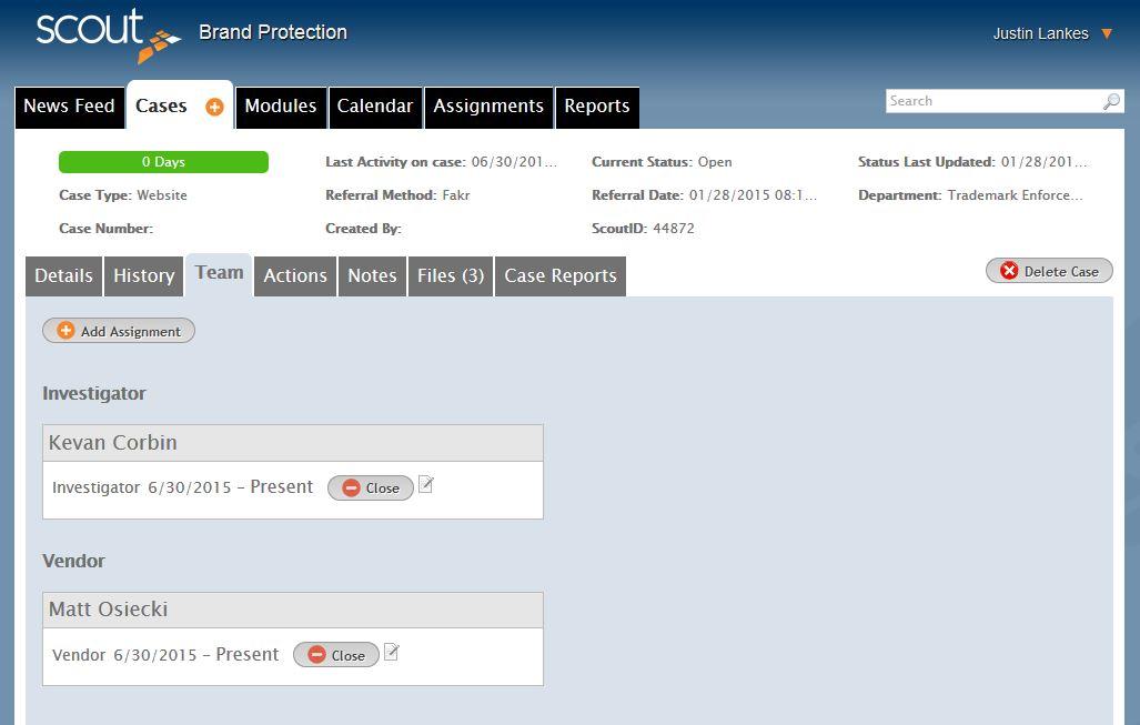 Team Case Management Software